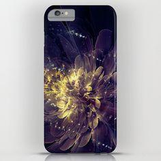Flower Of Liberty - Golden Blue Flower iPhone & iPod Case