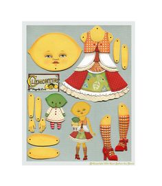Lemon Lime Paperdoll anthropomorphe Obst von CartBeforeTheHorse