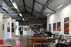NeST - a centre for new technology and a hub for creatives in Barnard Castle. Includes cafe, studio space, work hub, gallery area, collaborative environment and training opportunities