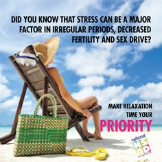 Stress can affect many aspects of your health. Take time to #relax