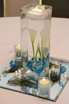10 Ideas For Peacock Wedding Centerpieces Unique Style (9)