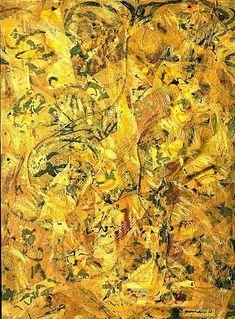 "Jackson Pollock, ""Number 2"" (1951) oil and enamel on canvas. 78.7 x 104.1 cm"