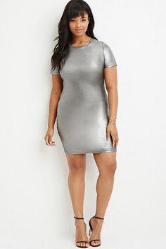 Plus Size Metallic Sheath Dress | Forever 21 - 2000163750