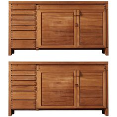 Pierre Chapo Set of Two R13 Sideboards in Solid Elm | From a unique collection of antique and modern credenzas at https://www.1stdibs.com/furniture/storage-case-pieces/credenzas/