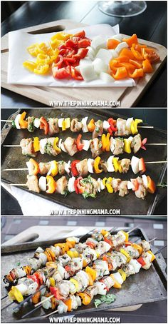 Fajita Kabob recipe for grilling! YES! Perfect for summer and includes versions for Paleo Whole30, gluten free, dairy free, and more!