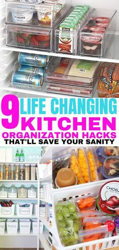 These kitchen organization ideas are great for busy moms on the go. Finally get your kitchen organized with these simple home organization ideas. hacks 9 Best Kitchen Organization Hacks You'll Wish You Knew Sooner - Balancing Bucks Hacks Cocina, Cocina Diy, Organize Life, Organize Room, Organizing Hacks, Home Organization Hacks, Diy Hacks, Cleaning Hacks, Ideas Para Organizar