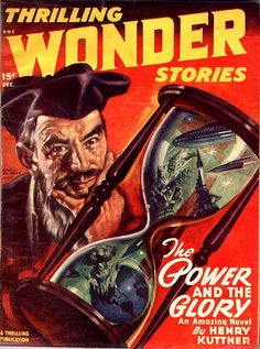 scificovers:  Thrilling Wonder Stories Dec 1947. Cover Art by Earle Bergey.