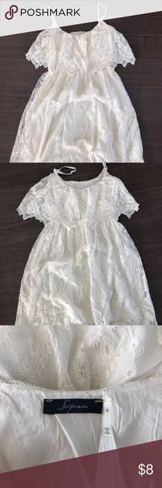 White lace dress Soprano white lace dress purchased from Dry Goods. Worn once for graduation. Soprano Dresses Midi