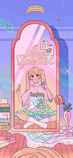 Anime Wallpaper Çizim Mor Art