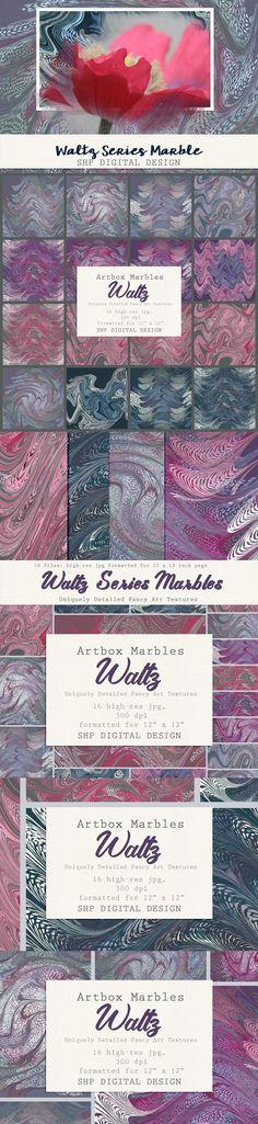 Art Textures:  Marbled Waltz Series #texture #scrapbook