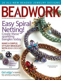 With all-new beaded designs, the magnificent April/May Beadwork issue will have you creating fresh and fun jewelry in no time! Beading Techniques, Beading Tutorials, Beading Patterns, Bracelet Patterns, Beaded Jewelry Designs, Bead Jewellery, Necklace Designs, Magazine Beads, Bead Shop