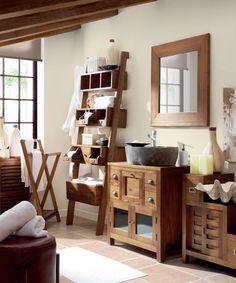 Muebles para el Baño de estilo colonial http://www.artesaniadecoracion.com/tienda/SALON-COLONIAL-MINDI.html