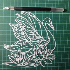 "41 Likes, 1 Comments - Tama Sipuci (@tamaprihandana) on Instagram: ""Swan #sipuci #papercut #papercutart #papercutting #paperart #paperartist #artcutting #ukirkertas…"""