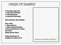 Sofia's Primary Ideas: Search results for Obedience
