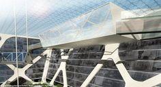 Earthscraper, Aztec pyramid, Inverted Pyramid, Mexico City, Future Architecture, Futuristic Building, BNKR Arquitectura, futuristic architecture, future building