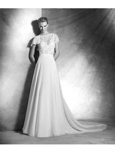 Glamoureuze A-lijn Bruidsjurken Chiffon Trouwjurken
