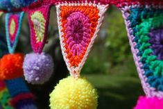 The pattern for this bunting is available here and it is made using the deliciously divine Rico Essentials Cotton dk