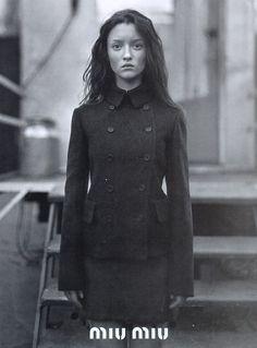 Audrey Marnay for Miu Miu Fall 1997 campaign by Glen Luchford.
