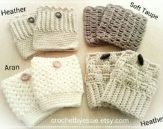 Items similar to Boot Cuffs,Hand Knit Boot Toppers, Leg Warmers Cashmere-Kidmohair Blend Yarn Choose Your Color And Size on Etsy Crochet Boot Cuffs, Crochet Leg Warmers, Crochet Boots, Knit Boots, Crochet Gloves, Chunky Crochet, Hand Crochet, Hand Knitting, Knitted Hats