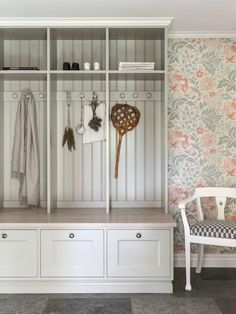 Entry with storage Laundry Room Storage, Diy Storage, Small Hall, Entry Hallway, Love Your Home, Interior Decorating, Interior Design, Apartment Living, Interior Inspiration