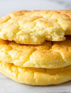 The Best Cloud Bread Recipe: Cloud Bread high in protein and extremely low in carbs, making it the perfect sandwich bread for those on a low carb, gluten free, or grain free diet. | A Spicy Perspective