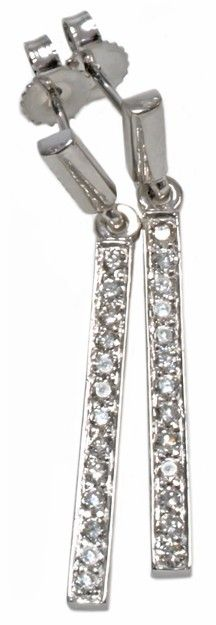 #sparkle | Diamond earrings with 0.40carat total diamond weight in 14k white gold