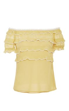 Off The Shoulder Ruffled Blouse by RED VALENTINO for Preorder on Moda Operandi