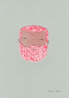 red scribble hair. (by Marc Johns)