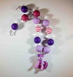 Twilight Sparkle My Little Pony Chunky Necklace- Birthday - Dress Up- Christmas Necklace - Photo prop- children's accessory on Etsy, $22.99