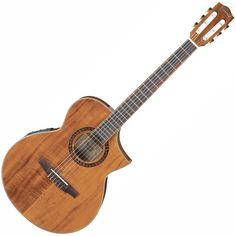 it's really not strictly a beginner's guitar. there are some sounds you can only achieve on nylon strings. Ibanez cut away Exotic wood electro-acoustic guitar EWN28KOE