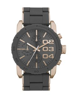Diesel DZ5307 Men's Double Down 42 Stainless Steel Watch