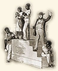 "Slave Auction, 1859-How human beings were ""prepared"" and sold into slavery"