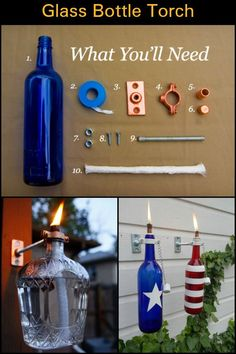Make Good Use of Those Old Wine Bottles And Create Your Own Tiki Torches at Home #DIYHomeDecorWineBottles