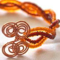 DIY Wire Tutorial: Beaded Crisscross Spiral Bangle