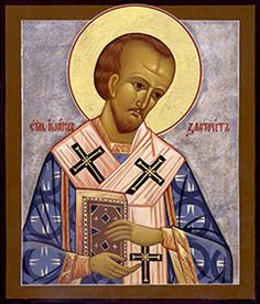 Sept. 13th - St John Chrysostom (344 - 407)    St. John, named Chrysostom (golden-mouthed) on account of his eloquence, came into the world of Christian parents, about the year 344, in the city of Antioch. His mother, at the age of 20, was a model of virtue. He studied rhetoric under Libanius, a pagan, the most famous orator of the age.