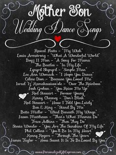 Top 20 Mother/Son Dance Wedding Songs