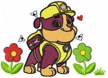 Dog american creative Paw Patrol machine embroidery design