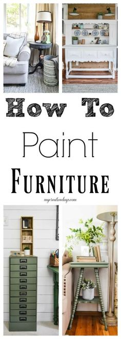 If you would like to start painting some furniture pieces, it is very important to take the proper steps so you can the best outcome.. This post will give you all the tips on how to paint furniture from a seasoned furniture painting pro.