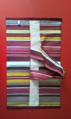Diy couture porte plat couture rayure couleurs