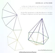Kiváló Polyèdre – Himmeli transzfer - Decoration World Geometric Origami, Geometric Decor, Diy Origami, Stained Glass Crafts, Stained Glass Patterns, Diy Home Crafts, Diy Crafts For Kids, Diamond Template, Bijoux Fil Aluminium