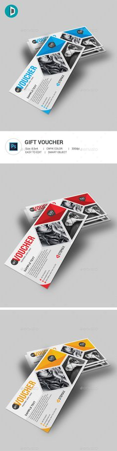 Gift Voucher  — PSD Template #loyalty card #gift coupon • Download ➝ https://graphicriver.net/item/gift-voucher/18184027?ref=pxcr
