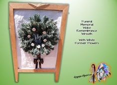 Crafts Recycling Upcycling all Things Green: Funeral Memorial Wake Remembrance Decorations Symp. Clay Flowers, Flower Pots, Green Funeral, Personalized Memorial Gifts, Cone Trees, Funeral Memorial, Forever Flowers, Sympathy Gifts, White Clay