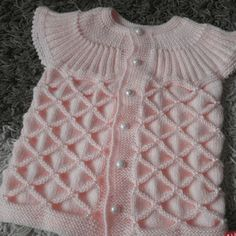 This Pin was discovered by HabBeautiful dress for baby girls, I wanted to share this with you too. we will be glad when you knitting and share with us.A great service for viBest 12 overed by Oya – SkillOfKing. Baby Knitting Patterns, Knitting Stitches, Crochet For Kids, Crochet Baby, Knit Crochet, Baby Girl Dresses, Baby Dress, Baby Girls, Easy Knitting