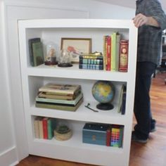 How to make a secret door/bookcase - I Like to Make Stuff