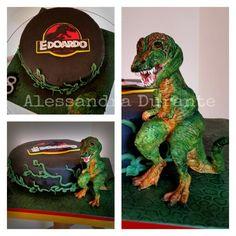 #cake #t-rex #jurassikpark #birthey #handmade #withlove