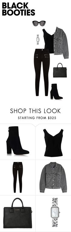 """""""Untitled #142"""" by eceerturk ❤ liked on Polyvore featuring Gianvito Rossi, ADAM, Paige Denim, Yeezy by Kanye West, Karl Lagerfeld, Chanel and Gucci"""