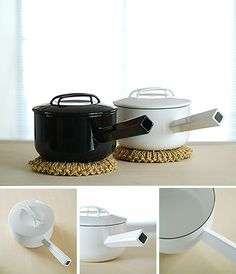@ Analogue Life - love pot wear in white & black for the OCD designer in me ...   Noda Horo SaucePanMaker: Noda Horo  Made in Japan