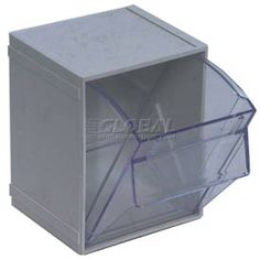 Bins, Totes & Containers | Bins-Tip Out | Quantum Tip Out Interlocking Bin QTB405 4-1/2 x 4 x 6 Gray - Pkg Qty 5 | 269421GY - GlobalIndustrial.com