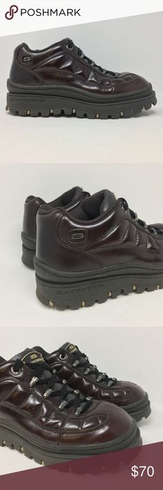 32dbfc31feb0 Vintage Skechers Boots Platform Hiking 7.5 G4 Vtg 90s Skechers Boots Black  Platform Hiking Sneakers Jammers