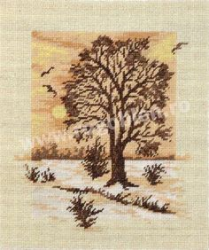 Culori: 9 Dimensiune: 13 x Pret: lei Cross Tree, Cross Stitch Tree, Cross Stitch Charts, Cross Stitch Patterns, Stitch 2, Winter Scenes, Cross Stitching, Shag Rug, Needlework